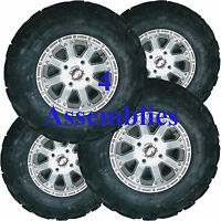 4) Lifted Golf Cart Tire Rim Wheel Assembly 25x10-12 For Ez-go Bad Boy Club Car