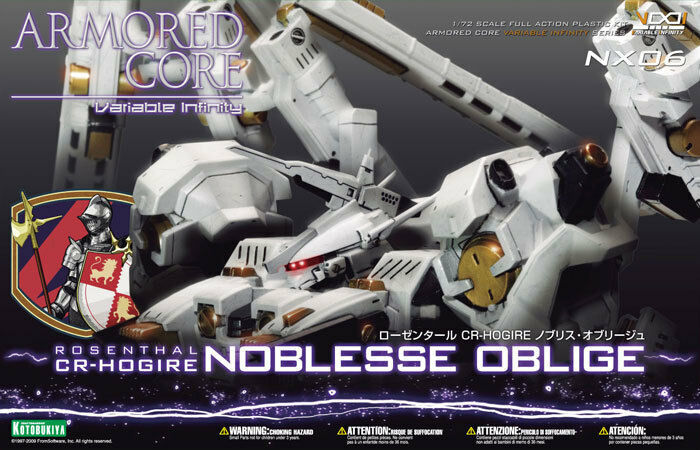 Armored Core 1 72  NX-06 pinknthal CR-Hogire Noblesse Oblige