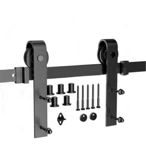 Schiebetürsystem Schiebetürbeschlag Glas//Holztür Laufschiene 110kg 200//366//300cm