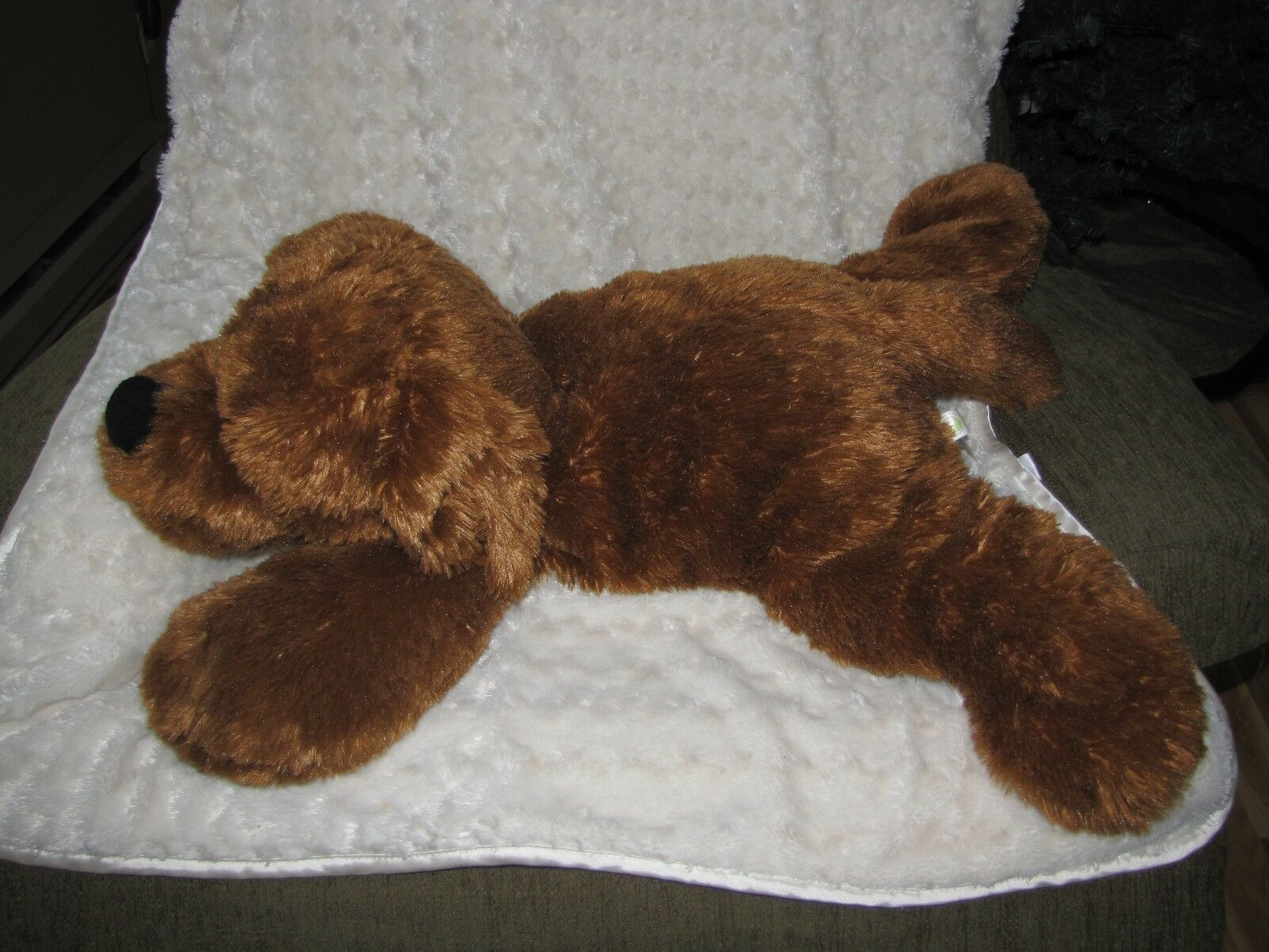 ANIMAL ADVENTURE 2014 STUFFED PLUSH CHOCOLATE Marrone PUPPY DOG BIG HUGE LARGE