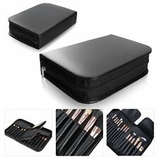 Professional 29 Pockets Makeup Bag Case Cosmetic Brushes Travel Zipper Pouch