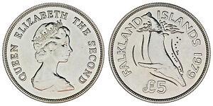 5-Silber-Pfund-5-Silber-1979-Falkland-Inseln-Inseln-Malvinas-UNC-Sc