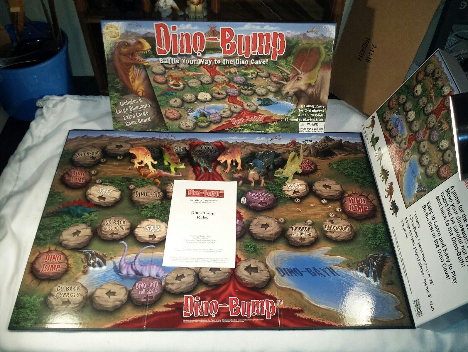 DINO-BUMP Award Winning Dinosaur Board Game 2009 COMPLETE & RARE