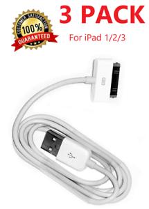 3Pack 30 pin USB Charging Data/Sync Cable Cord for iPad 1/2/3 iPod Nano 1-6