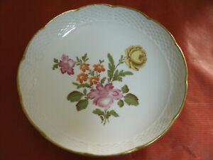 Piatto-Ceramica-RICHARD-GINORI-MANIFATTURA-DI-DOCCIA-Florence-Italy-d-19cm-Fiori