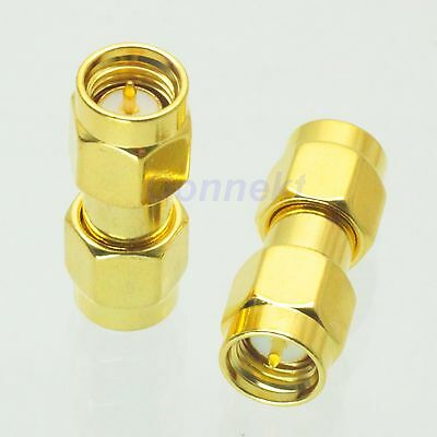 1pce SMA male to SMA male plug in series RF coaxial adapter connector
