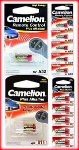 Piles bouton Camelion 12V LR23A/LR27A-9V LR32A/6V LR11A