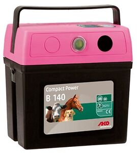 AKO-dispositivo-Valla-Pasto-COMPACT-POWER-B-140-9v-electrica-batteriegeraet-ROSA