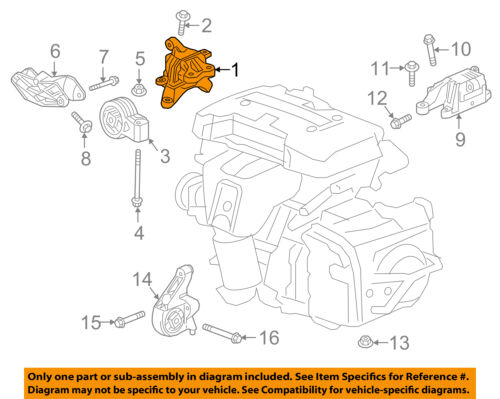 Buick GM OEM 16-18 Envision Engine-Motor Mount 84160405