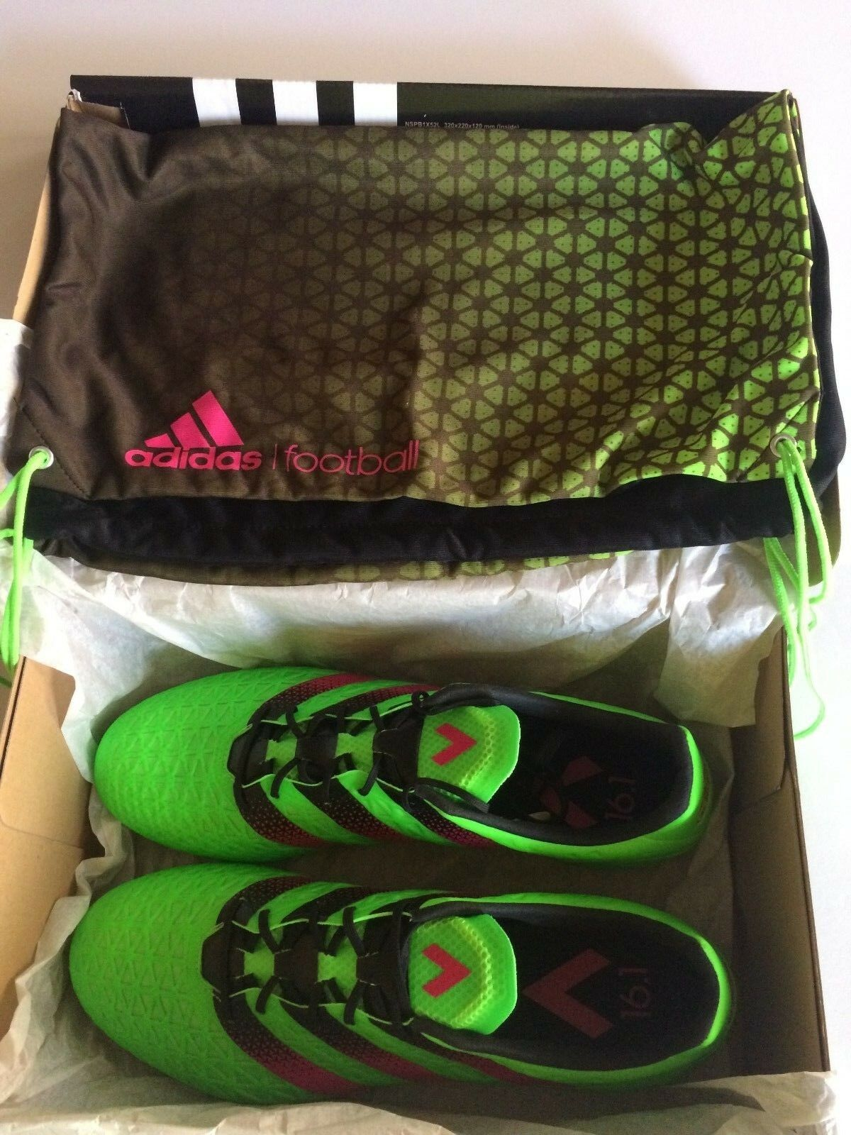 Adidas Uomo Ace 16.1 FG/AG Soccer Cleats  AF5083 with Bag