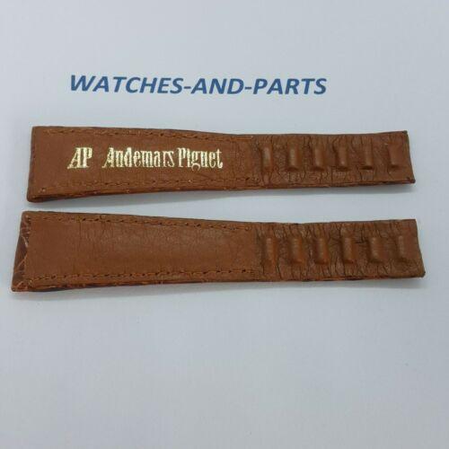 Audemars Piguet AP Light Brown Crocodile Leather Strap 20/14 NOS GENUINE NEW