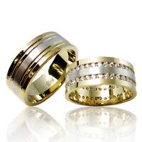 2 Trauringe 925 Silber Gravur+Etui Eheringe Verlobungsringe Partnerringe 3304