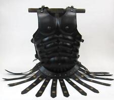 GREEK ROMAN LEGIONAIRE Black Steel CUIRASS BREAST BACK ARMOR with Leather APRON