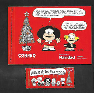 Booklet Comic By Quino Mnh Argentina Christmas 2017 Mafalda Stamp Argentina