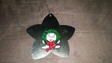 FREE SHIPPING! Ziggy Happy Holidays Christmas Tree Ornament Wreath Metal Star