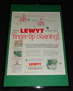 1955-Lewyt-Vacuum-Cleaner-Framed-11x17-ORIGINAL-Advertising-Display