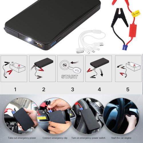 Portable Car Jump Starter 12V 10000mAh Auto Battery Booster Charger Power Bank U