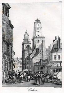 Antiquitäten & Kunst Vereinigt Calais Stadtansicht Lithographie Von Studer 1840 Original Europa Moderate Kosten