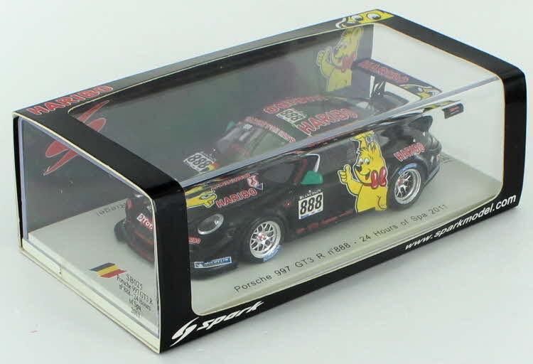 PORSCHE 911 GT3 R Haribo   888 Spa 2011 1 43 - SB025  choisissez votre préférée