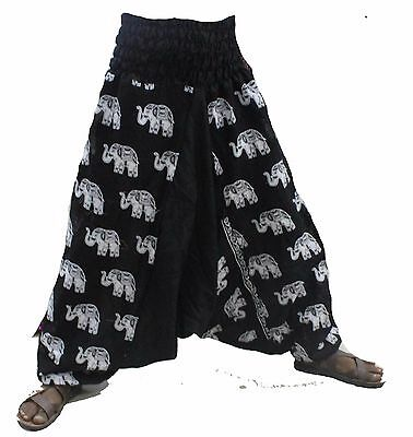 Indian Trouser Alibaba Pants Harem Men Baggy Gypsy Plus size Big Tall Red Solid