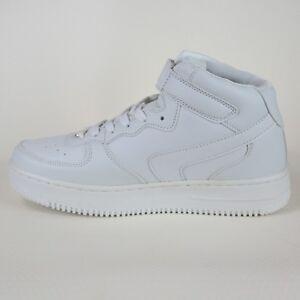 moda acquistare sconto fino al 60% Dettagli su Scarpe da Uomo Sneakers Alte bianche Sportive Ginnastica  eleganti 42 stringate