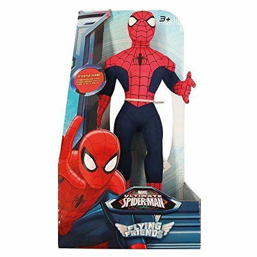 New Marvel Ultimate Spiderman / Spider Man Flying Friends Talking Soft Figure