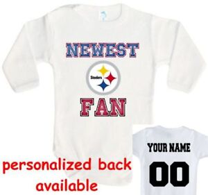 Image is loading Baby-bodysuit-Newest-fan-Pittsburgh-Steelers-football-One- e6e9ee2ba