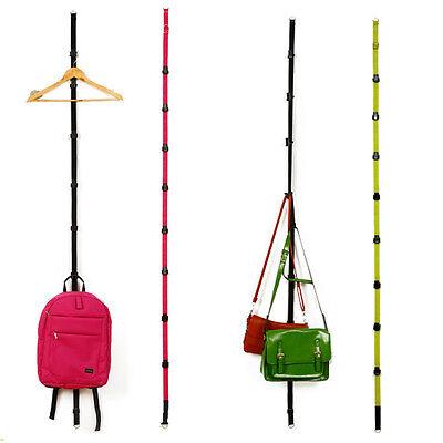 Over Door Straps Hanger Adjustable Hat Bag Clothes Rack Holder Organizer 8 Hooks