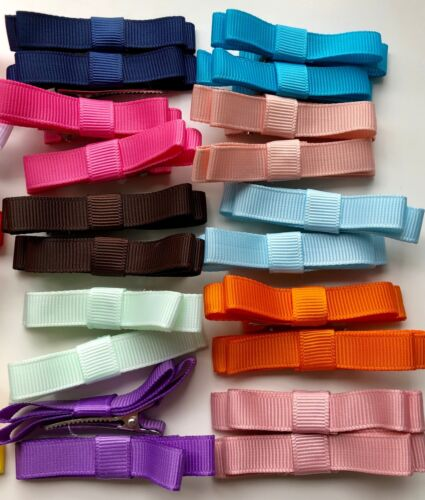 """Small 2/"""" 2 Pack Colourful Hair Clips//Pins"""