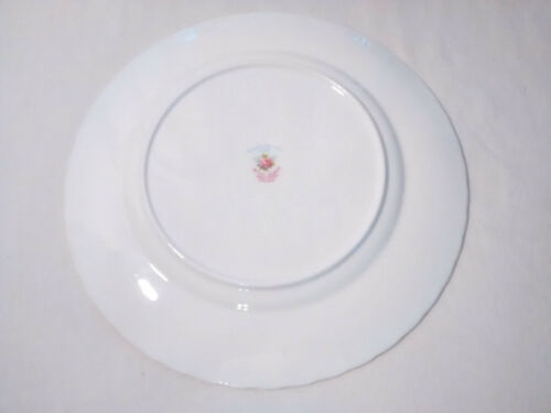 ROYAL ALBERT  FORGET-ME-NOT ROSE BONE CHINA 8 LUNCHEON SALAD PLATES~LOT OF 2