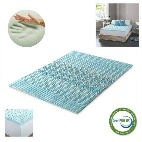Cooling Gel Memory Foam Mattress Pad Soft Bed Topper Twin Full Queen King Size