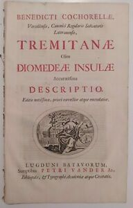 1725 Benedetto Cocarella Tremitanae olim Diomedeae insulae accuratissima ...