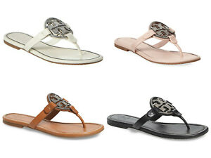 NIB-Tory-Burch-Embellished-Crystal-Logo-Miller-Sandal-Bleach-Tan-Sea-Shell-Pink