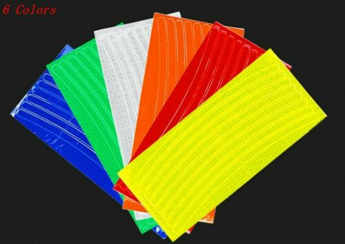 48 Pieces Reflective Stickers Bike Bicycle Motorcycle Car Reflector 6 Colors O34