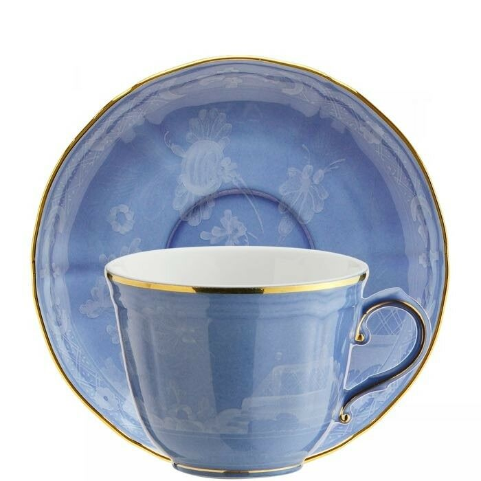 Oriente Italiano Pervinca, Tazza Caffè con piattino, Porcellana, Richard Ginori