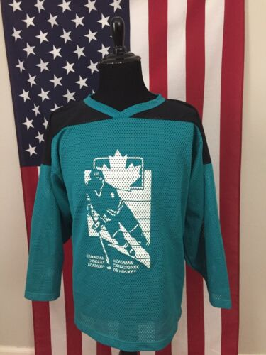 vtg Canadian Hockey Academy Turquoise Mesh Jersey