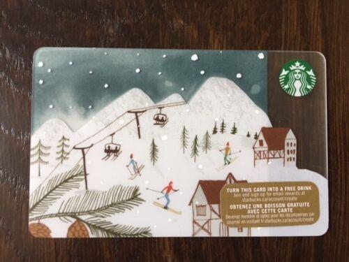 "New No Value Canada Series Starbucks /""SKI RESORT 2015/"" Gift Card"