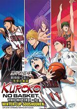 Anime DVD: Kuroko no Basket The Movie 1-3: Winter Cup Soushuuhen_English Sub_