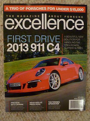 "2013 Porsche Excellence Magazine April 2013 /""First Drive 911 C4/"" Awesome L@@K"