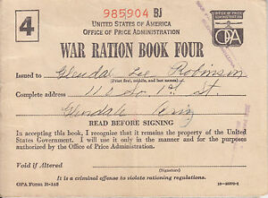 Attractive Image Is Loading US War Ration Book Four By US Office
