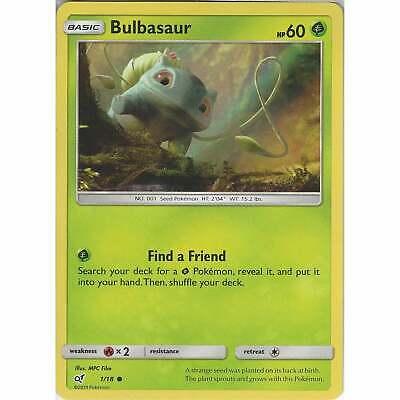 Pokemon Holo Detective Pikachu Bulbasaur Stamp Promo SM198 Inc Free Card Deal