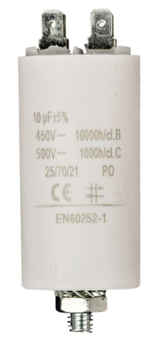 10uF 450VAC MOTOR RUN polypropylène condensateur
