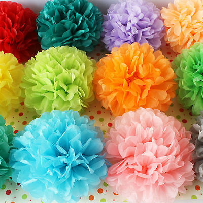 "8/10"" Tissue Paper Flower 5-10pcs Pom Poms Ball Lantern Party Wedding Room Decor"