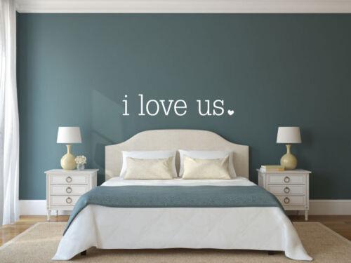 Home Decor Family Room Bedroom Vinyl Decal Wall Art Decor Sticker I Love Us