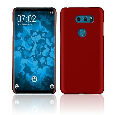 Cases, Covers & Skins Hardcase Für Lg V30s Thinq Hülle Rot Gummiert Cover Fine Workmanship Cell Phones & Accessories