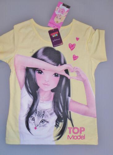 TopModel Nyela Katze Glitzer T Shirt gelb Top Model Püttmann Gr 128 140 152 164