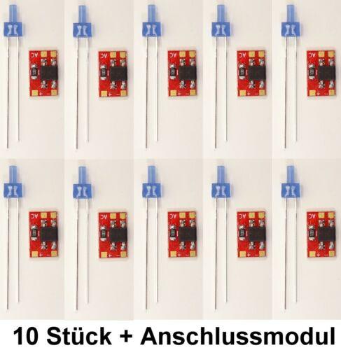 LED Tower 2mm Blau Blinkt Flash Blaulicht+Zubehör siehe Auswahl Modellbau C5014