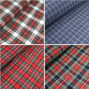 100-Brushed-Cotton-Fabric-Tartan-Wincyette-Flannel-Material