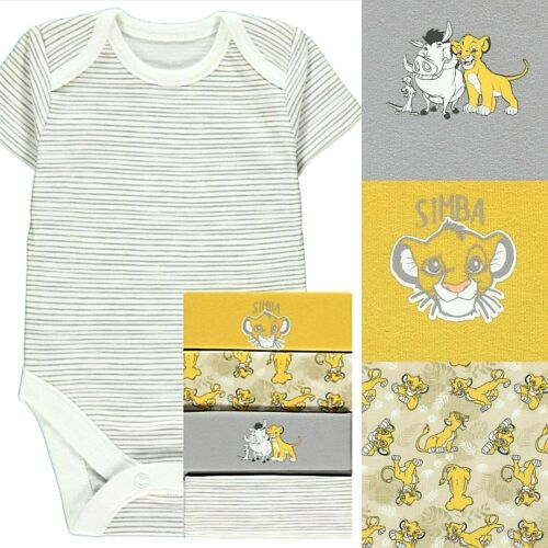MINNIE MOUSE SHORT SLEEVES BODYSUITS 5 PACK BABY GROW OUTFIT BABY DISNEY TIGER