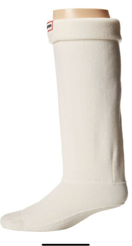 Hunter Boots Original Tall Boot Socks Women/'s Medium 5-7 CREAM NEW Open Dmg Box